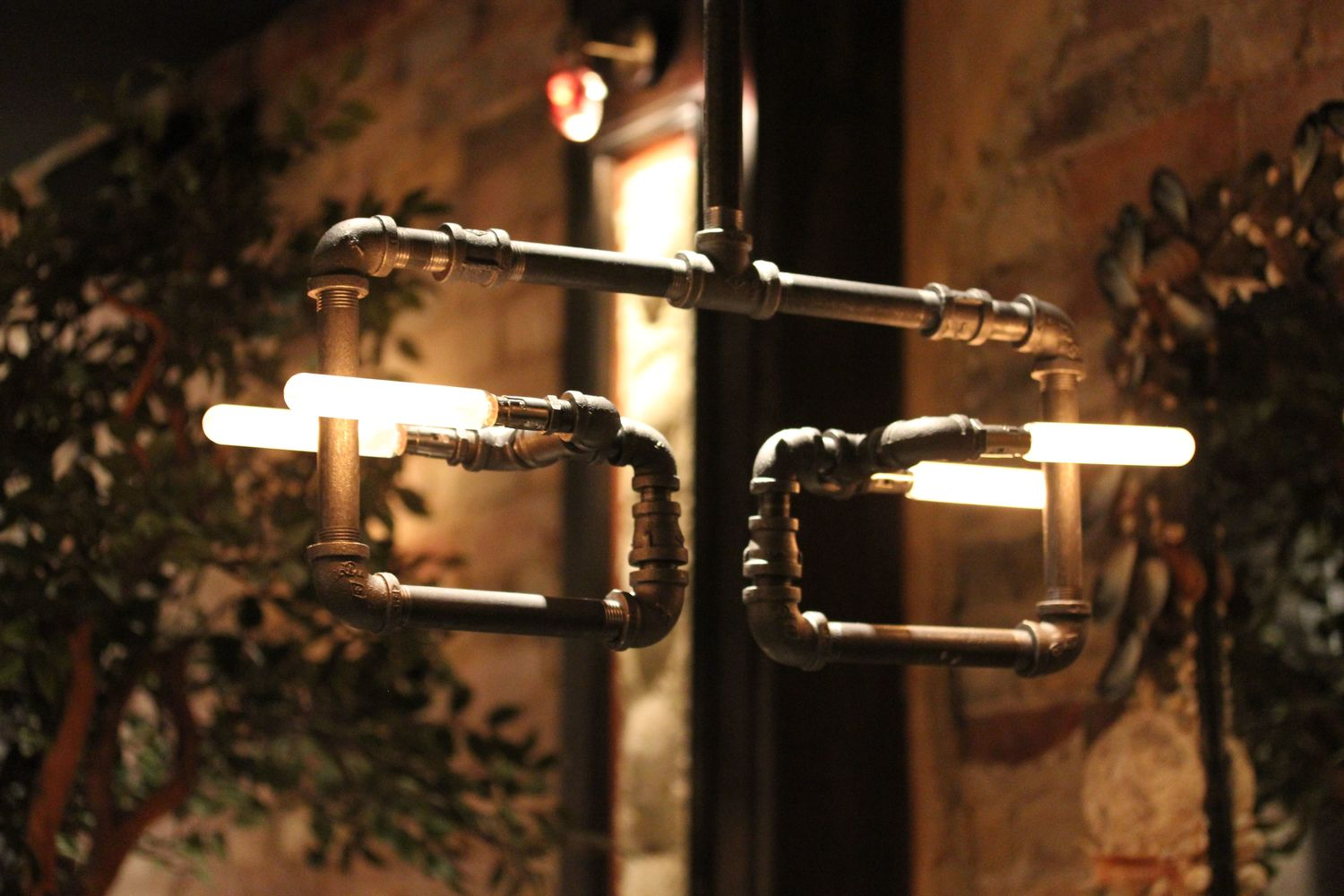 gas-pipe light fixture made by Jac Eckhardt