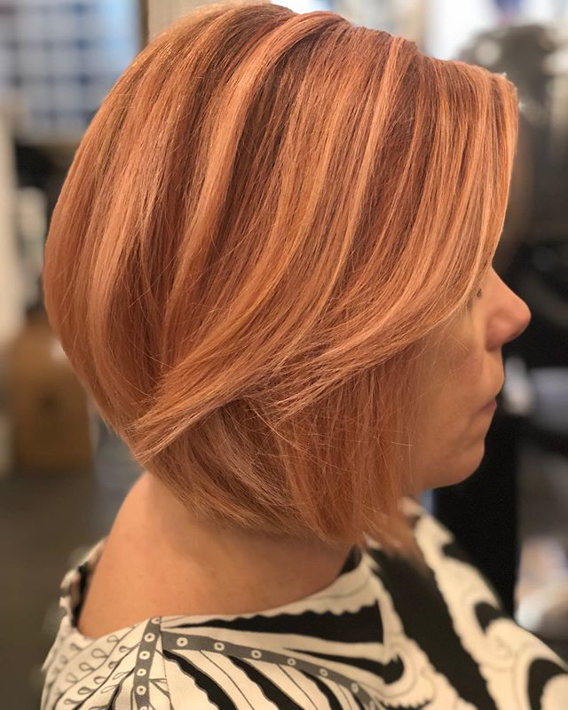 I loved creating this subtle pink color! Getting to be creative everyday is why I love what I do! Hair by Kate