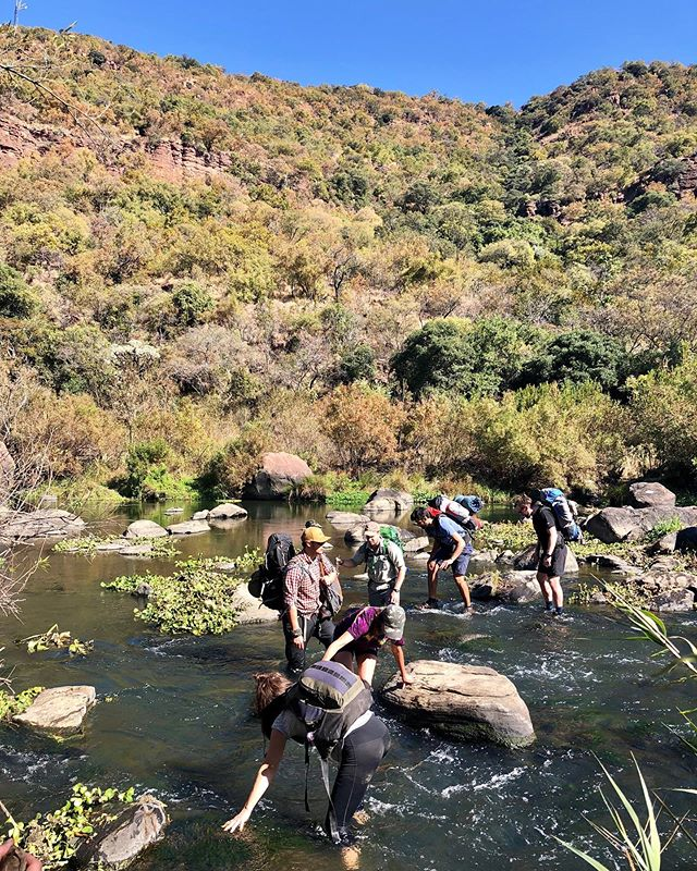 💦 Rock hopping only got us so far! We had to get our feet wet to get to the other side of the Olifants River. ⠀ ⠀ ⠀ 📝 Blog post up soon on our overnight hike at Kingdom Trails, Mpumalanga. ⁣⠀ ⠀ ⠀ #southafrica #mpumalanga #hiking #travel #travelblogger #traveller #travelphotography #hikersofinstagram #hikers #adventure #worththehike #bestview #camping #wilderness #forrest #river #riversofinstagram #overnighthike