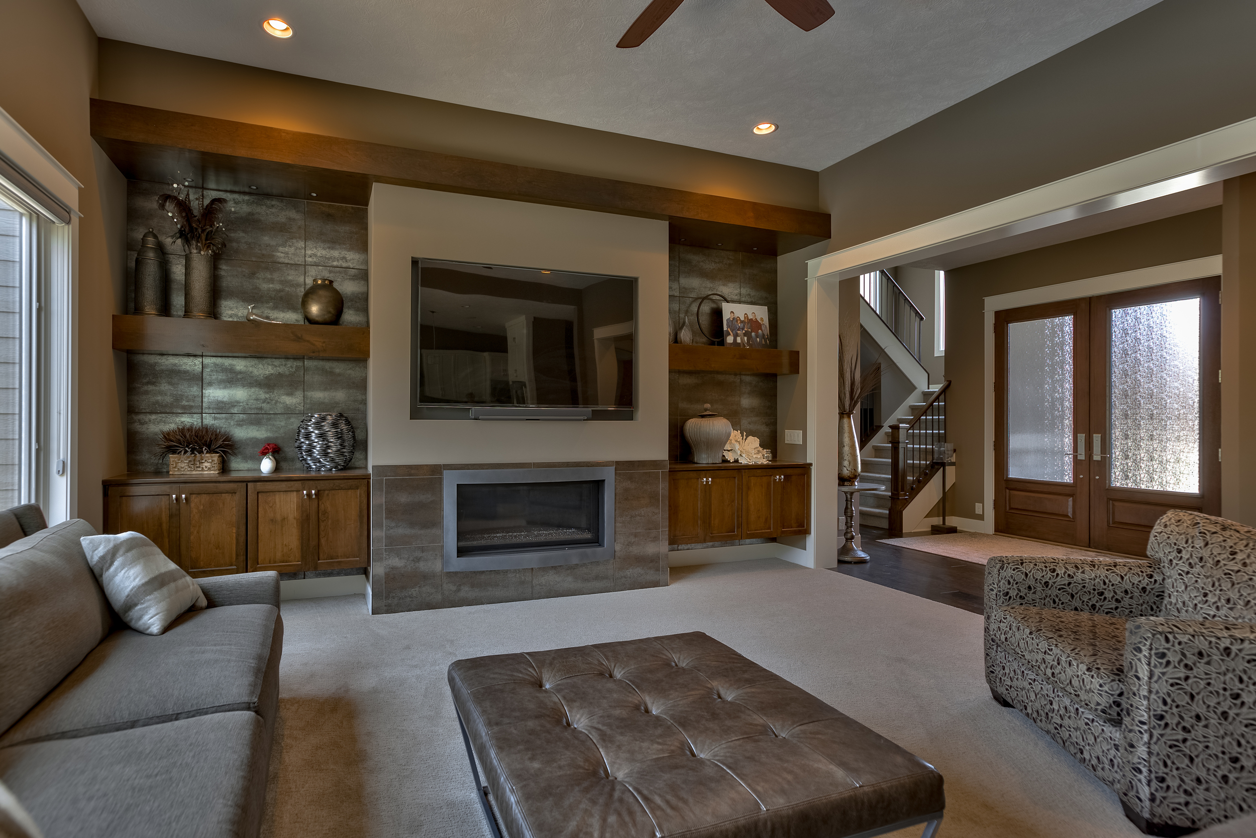 Quest Custom Homes builds luxurious interior spaces.