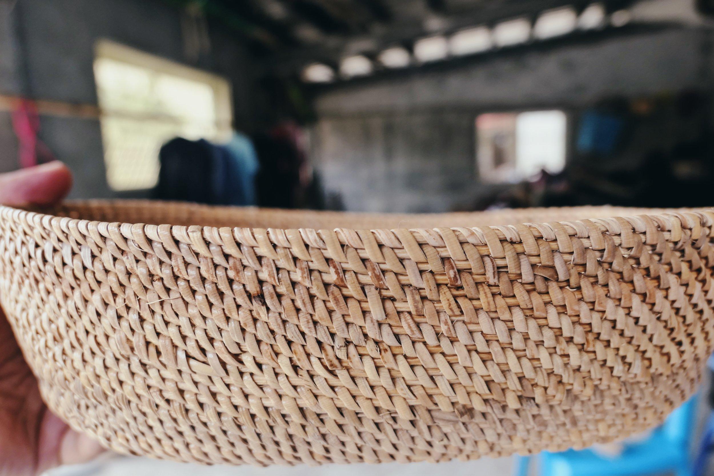 阿公跟阿嬤利用的粗藤心與寬藤皮。