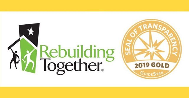 Woohoo! Rebuilding Together just earned a 2019 Gold Seal of Transparency from GuideStar!  Check it out here: https://www.guidestar.org/profile/52-1585880