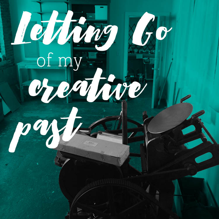 Letting Go Of My Creative Past...