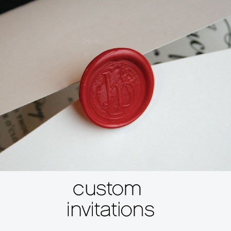 Looking for something fun and new? We will work with you to create a bespoke invitation that beautifully sets the stage for your big day. Check out this gallery of some of our past custom invitations.