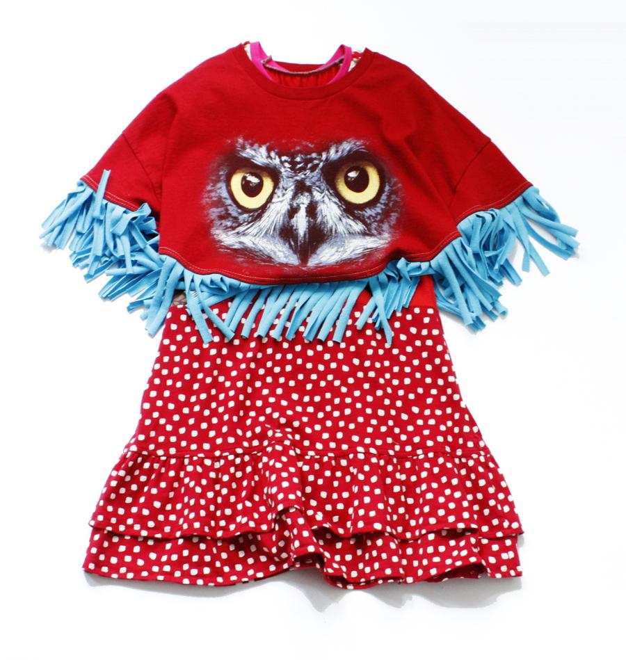 layered owl:red:turquoise:fringe:poncho.jpg
