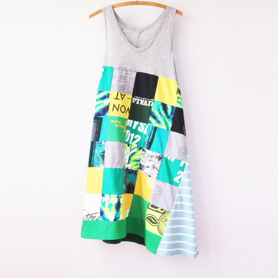 womens tank M greens graphic patchwork.jpg