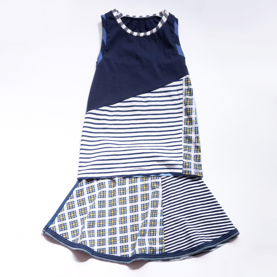 overlap 8:10 navy:blues:plaid:stripe:skirt:set.jpg