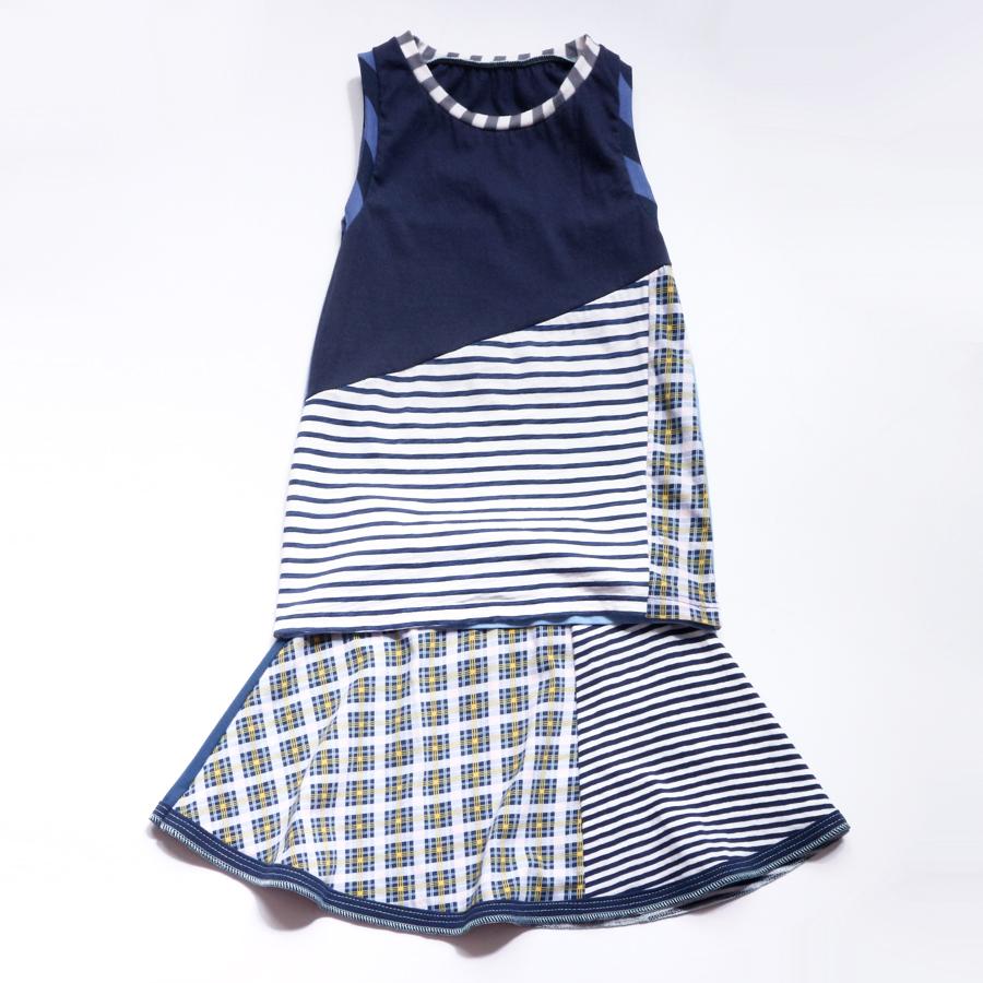 overlap 8:10 navy:blues:plaid:stripe:skirt:set.jpg