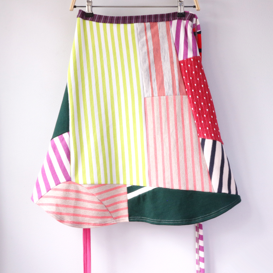back womens wrap skirt M superstripe patchwork.jpg