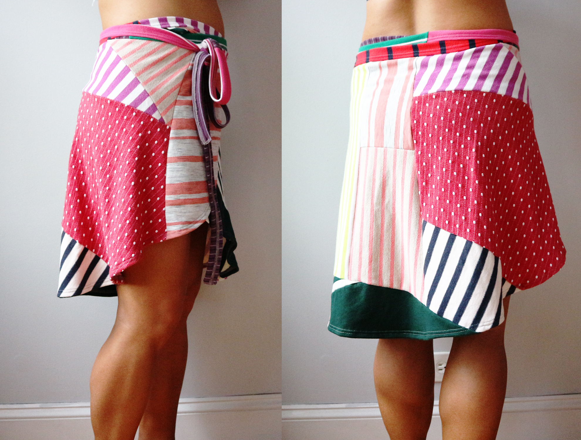 side back womens wrap skirt M superstripe patchwork.jpg