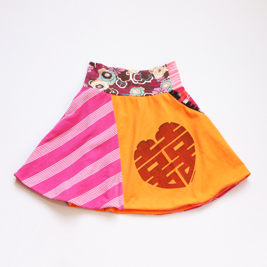 8 orange:doublehappiness:pink:lined:skirt.jpg