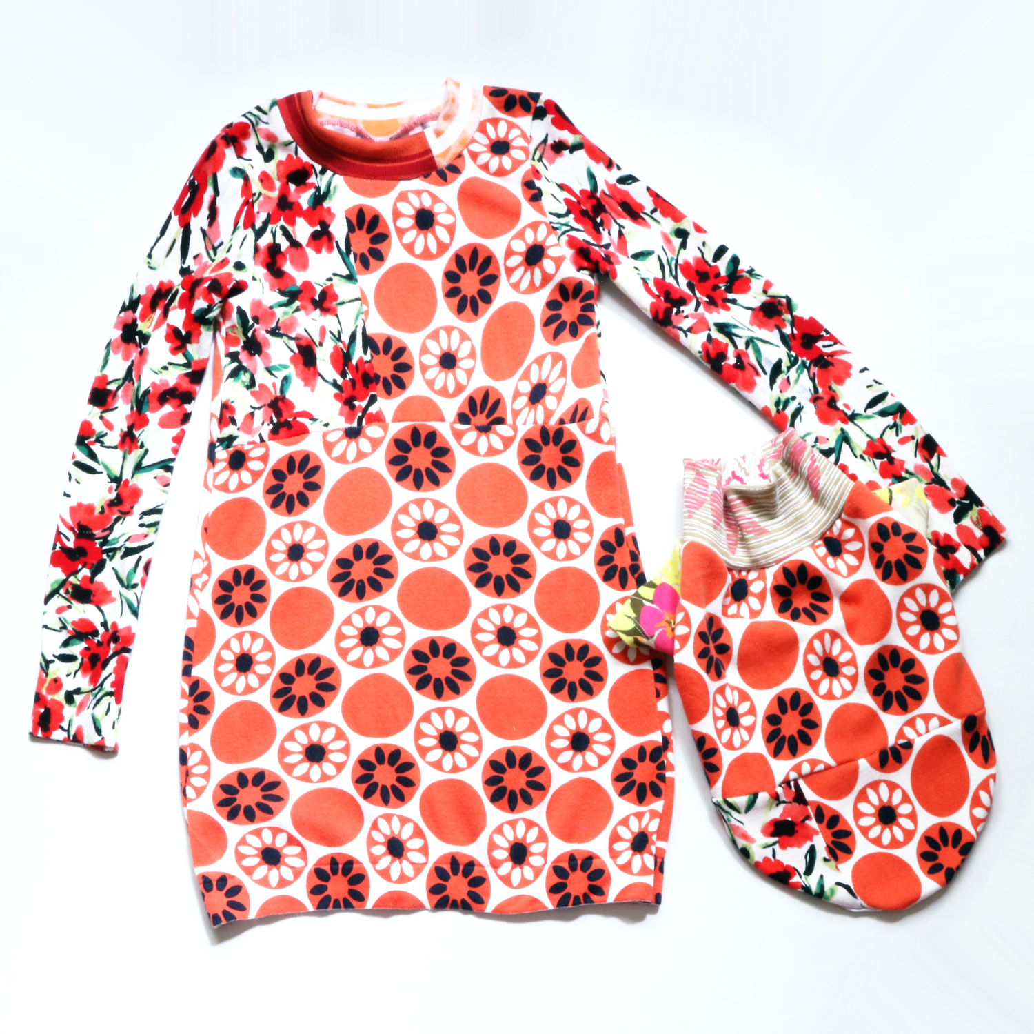 a girl and her dog ⅞ orange:floral:sweater:ls:dress frenchie M.jpg