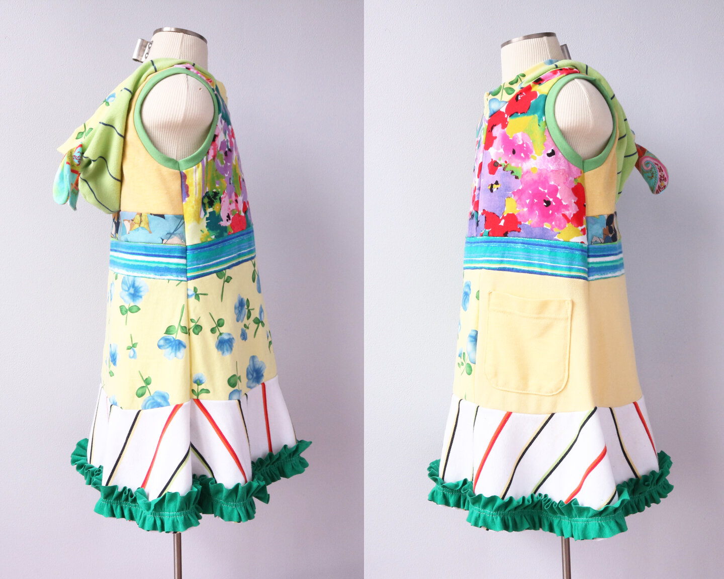 form side ⅚ yellow:floral:ruffle:pocket:bunny:hoodie.jpg