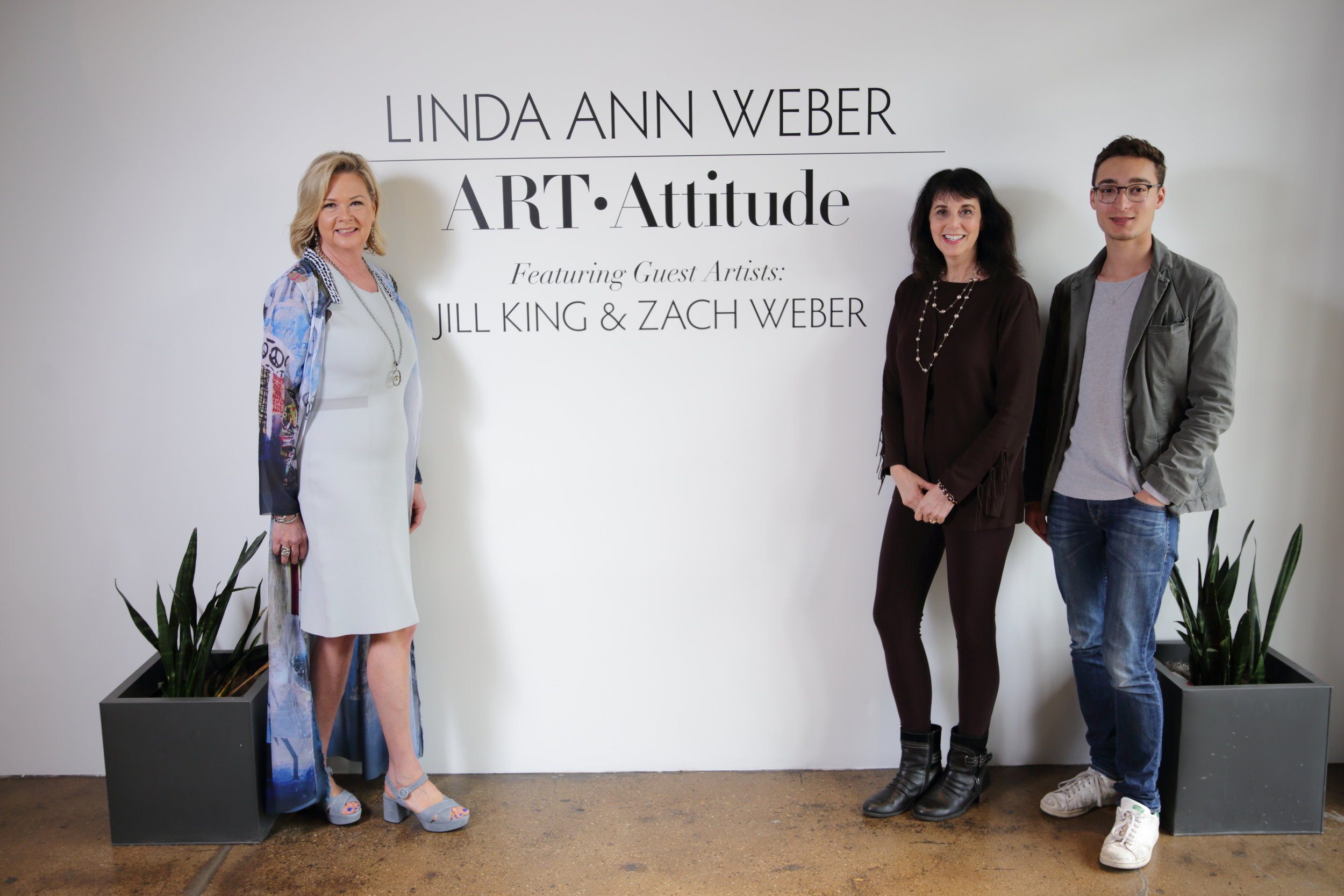 Linda Ann Weber with featured guest artists, Jill King and Zach Weber