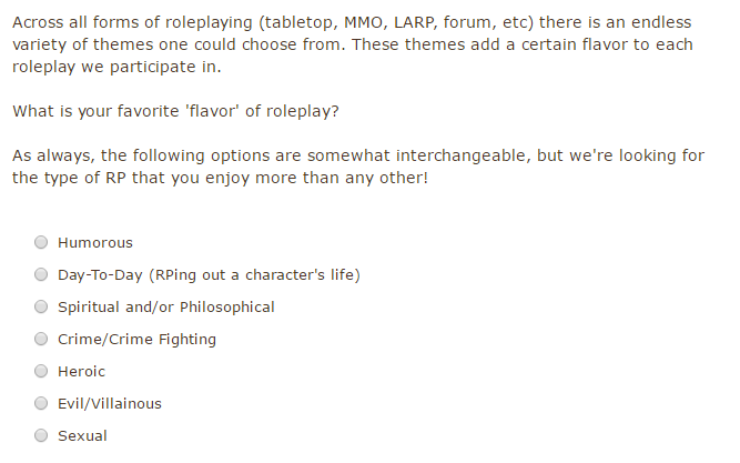Click  here  to vote and/or discuss! We aren't giving out 'I Voted' pins however. :P