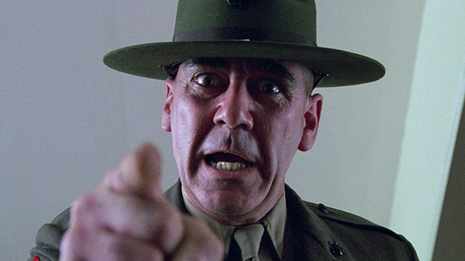 Full Metal Jacket. Watch it.