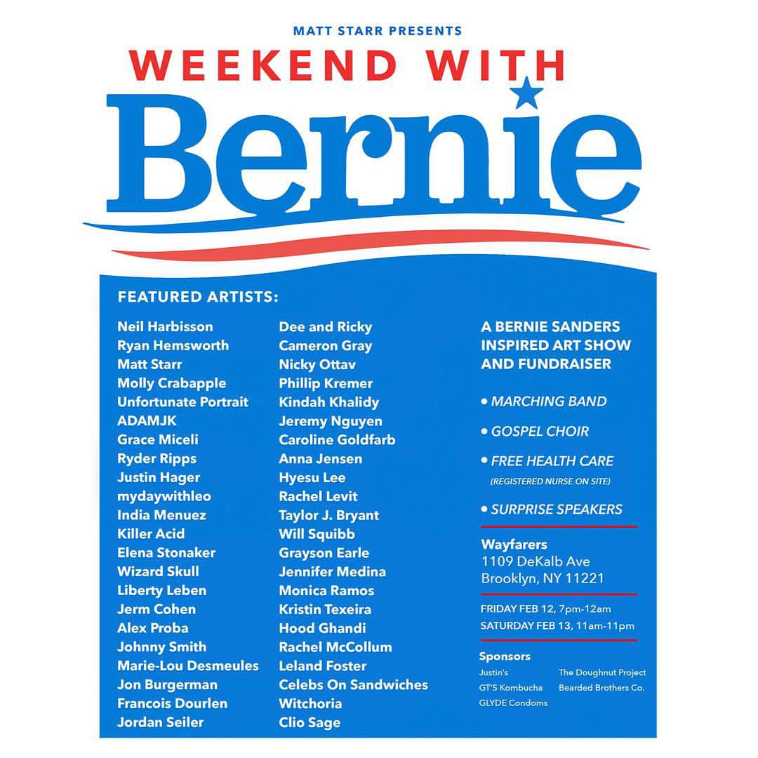 Matt Starr Presents Weekend With Bernie    Fabricator of Bernie Sanders Student Loan Shredder  February 2016