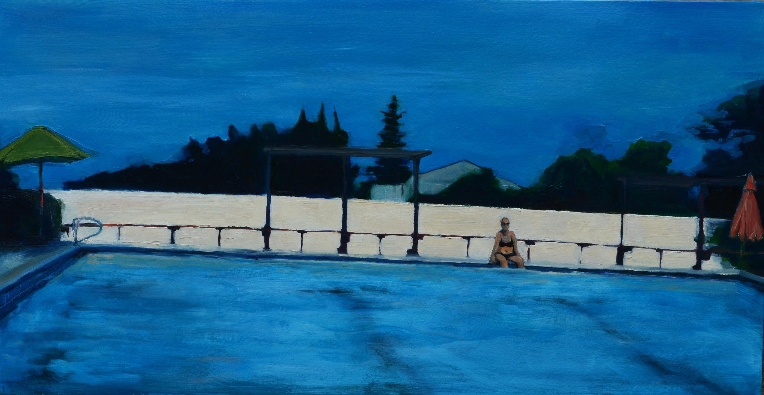 Pool . 2014. Oil on Panel. 15.75 x 30 inches. sold.
