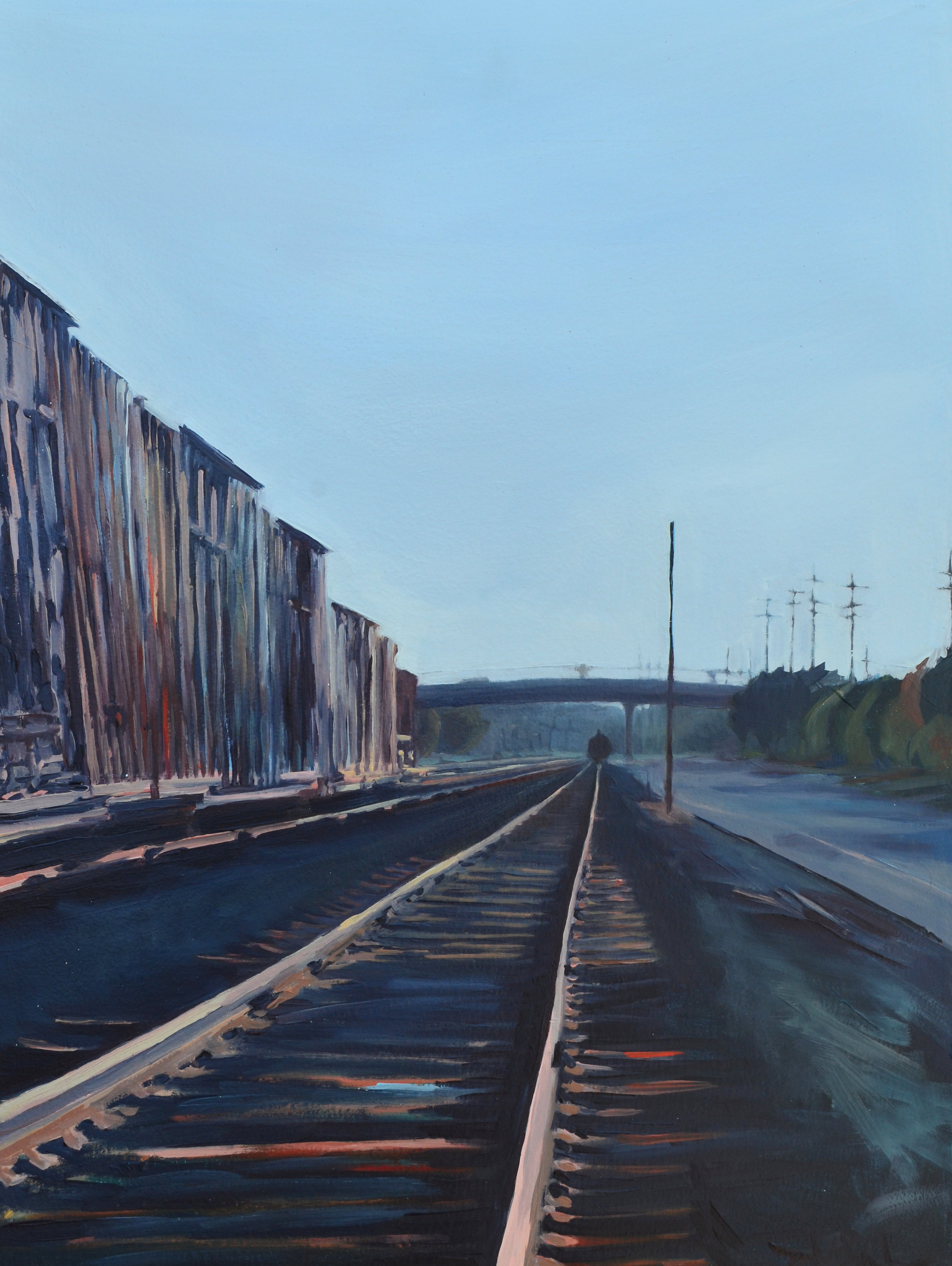 Second Street, Westward.  2015. Oil on panel. 18 x 24 inches.