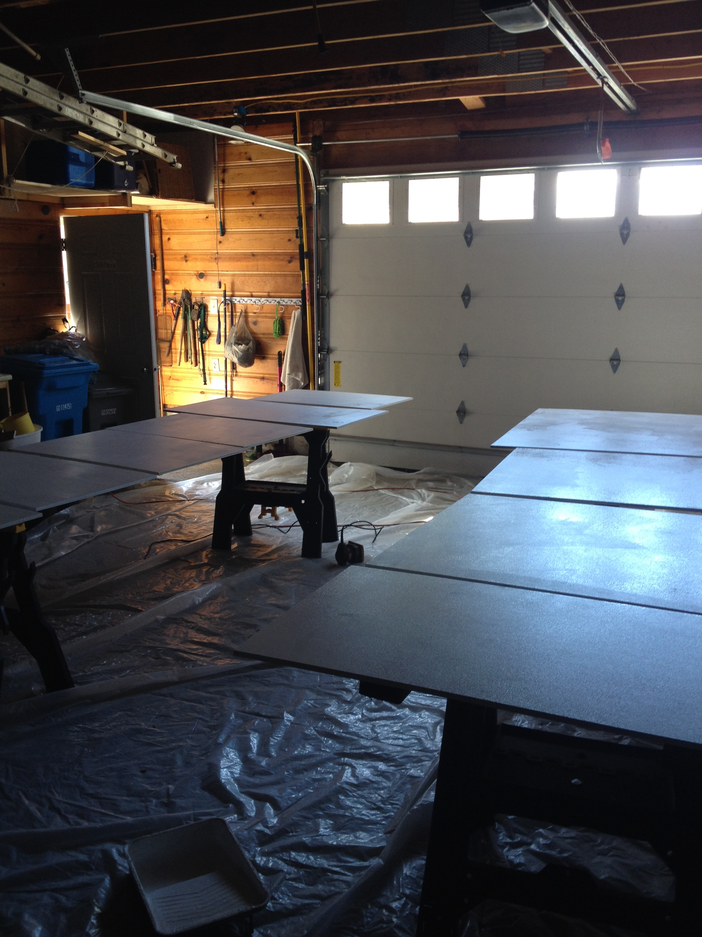 panels being primed in my father's garage, July 2015