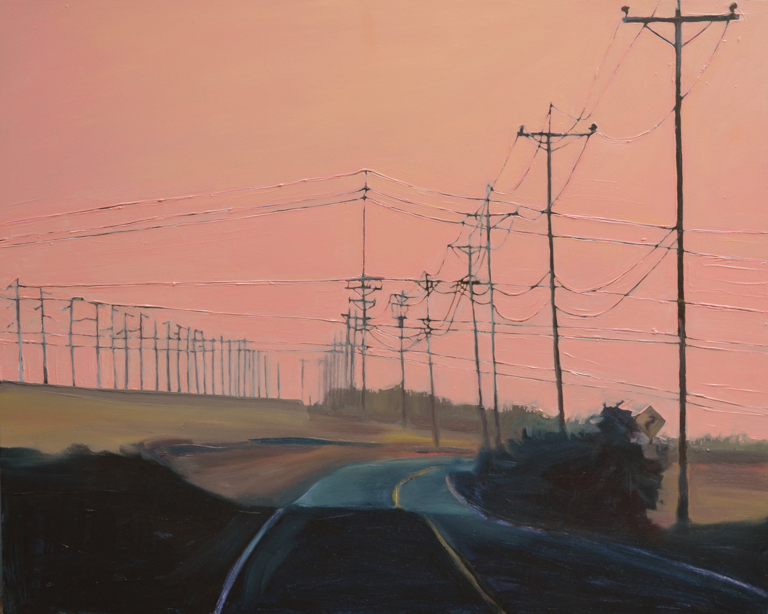 Road 29's Bend . 2015. Oil on panel. 18 x 24 inches. sold