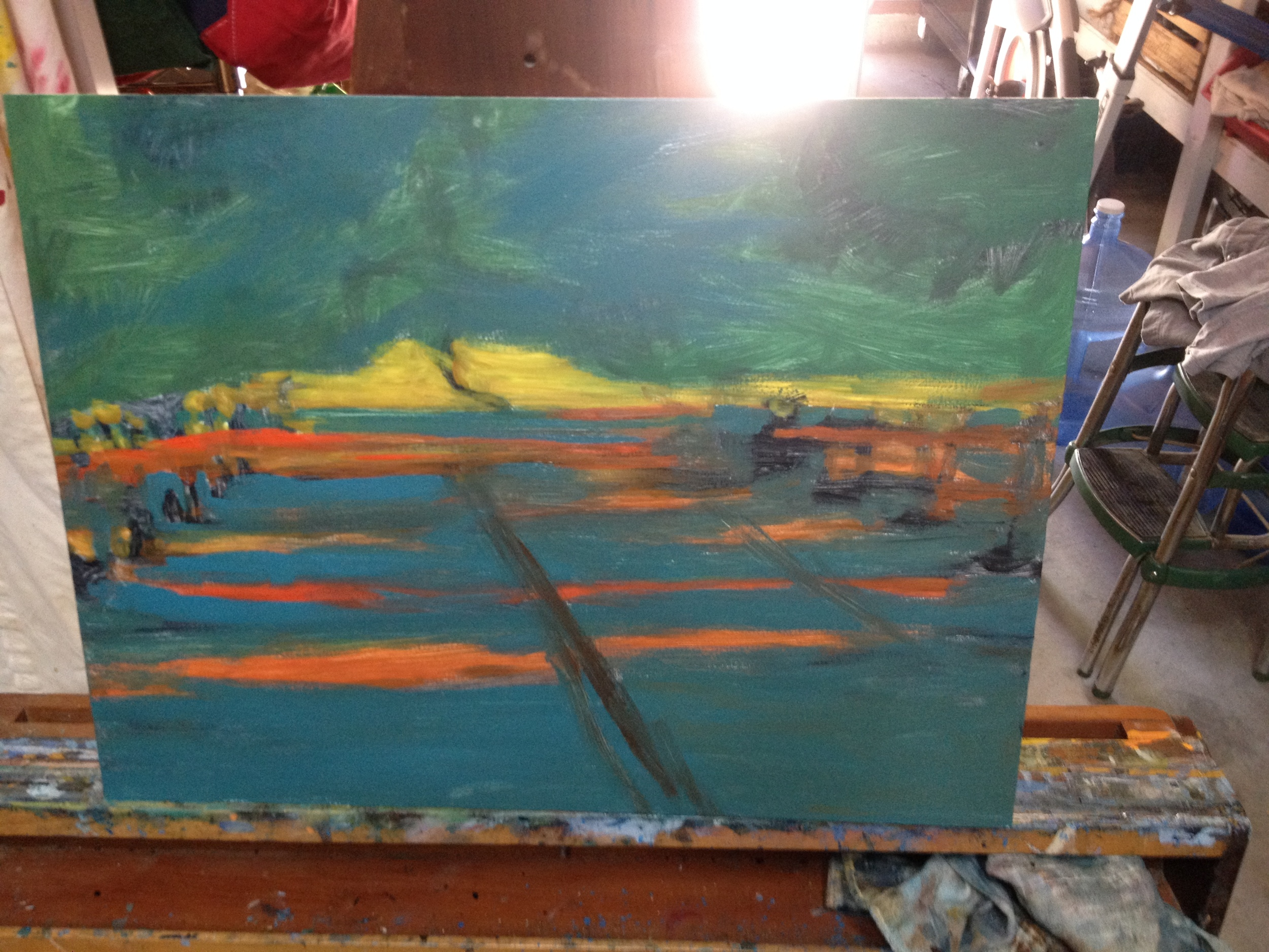 CR31 Orchard Shadows , underpainting