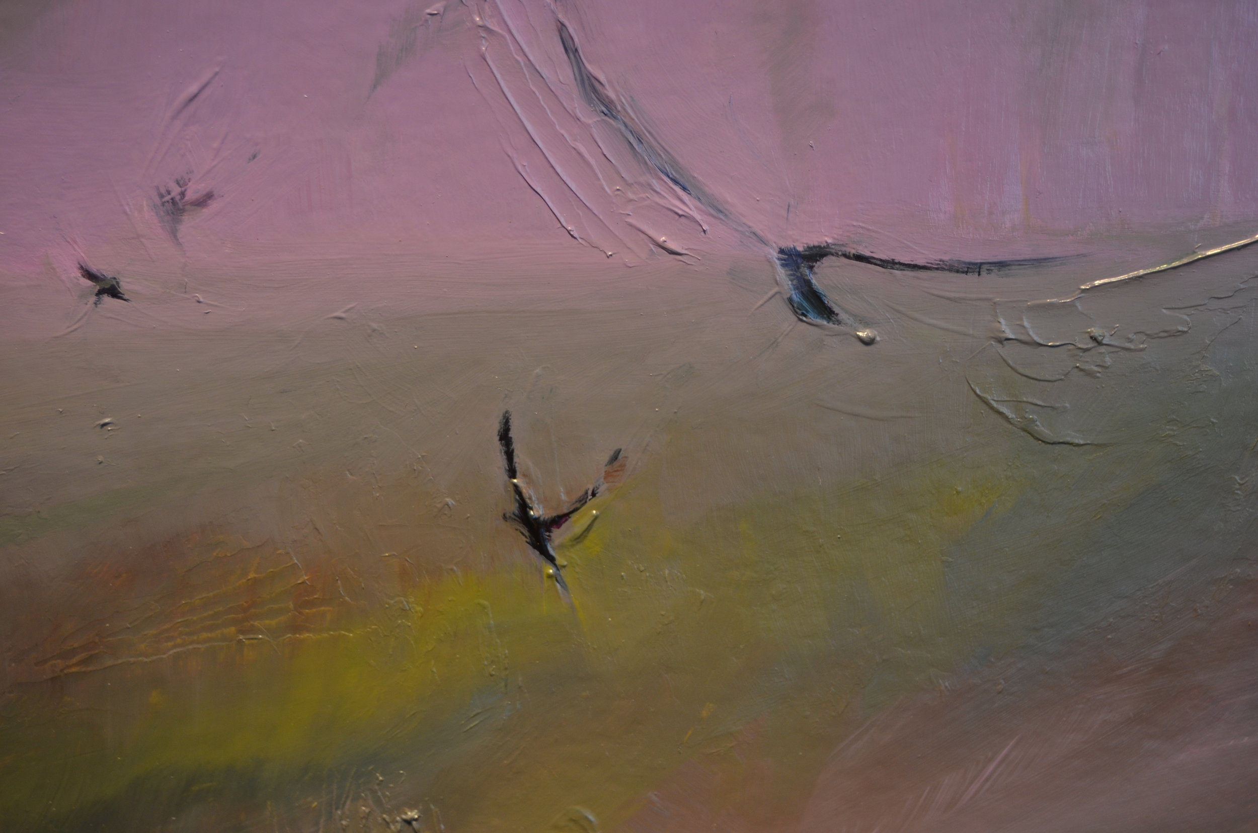"""detail of """"Birds, Crows From Here"""""""