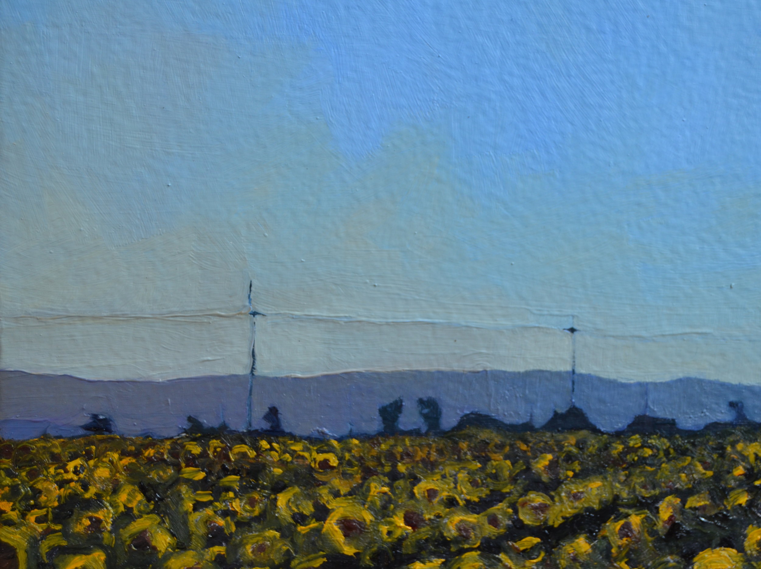 detail from S unflowers, Rows