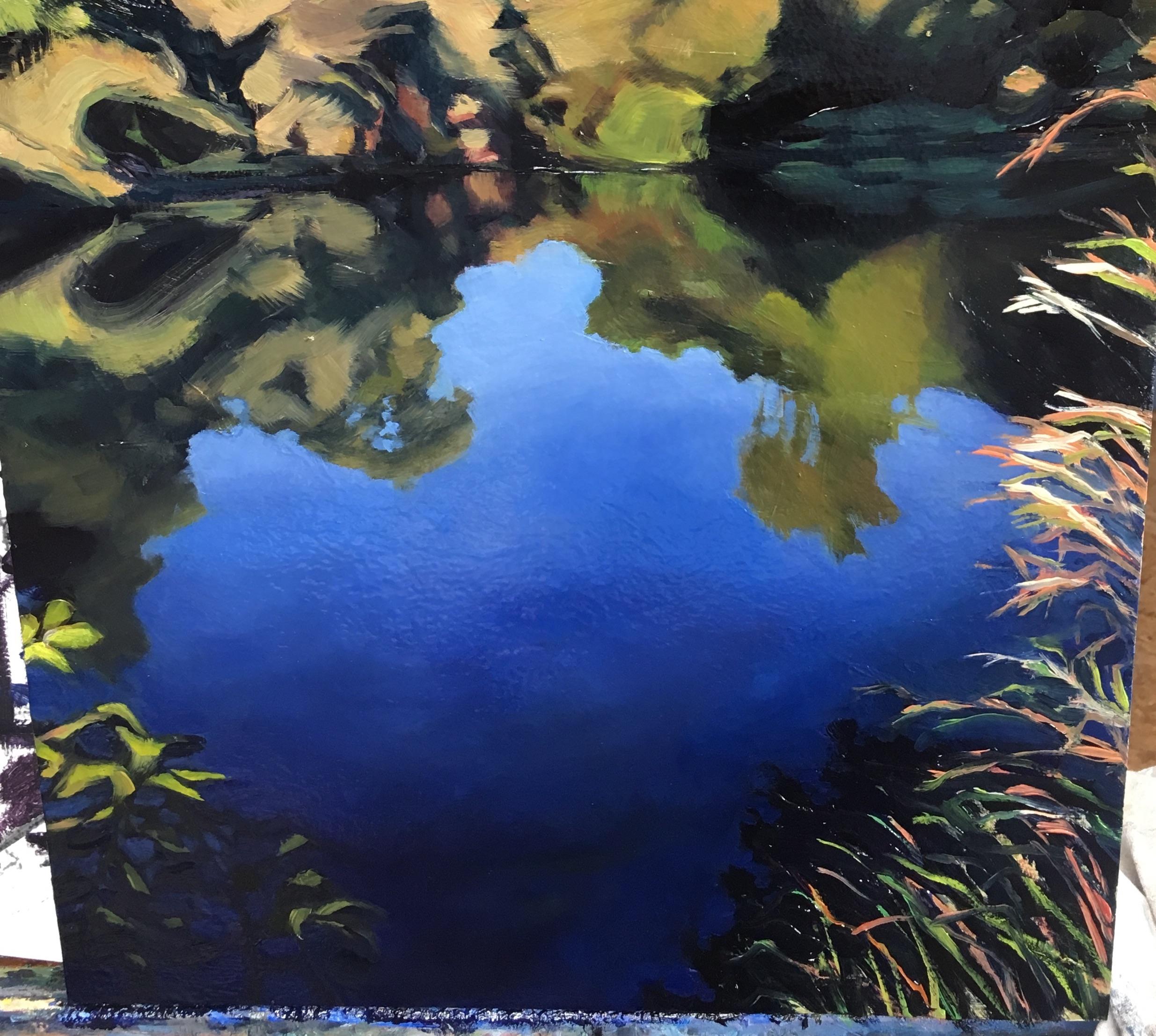 detail of  Creek, Grasses