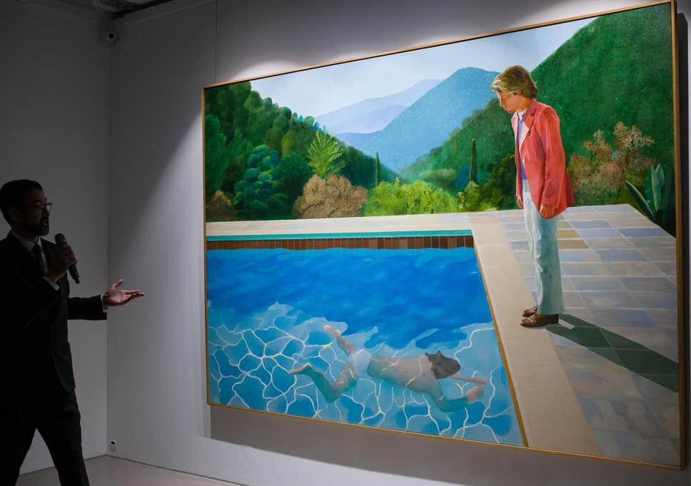 APF/Getty Images, of David Hockney's  Pool With Two Figures