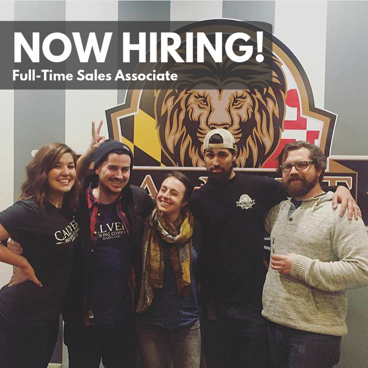 Join Sam, Nick, Kara, Finney, and Matt as the newest full-time addition at Calvert Brewing!