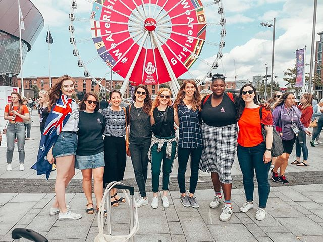 So lovely to run into some of the @netballberlin_ players at the @netballworldcup - we're all dreaming of the day we see France & Germany on the court at the World Cup, but for now, we'll see you at our next tournament in Amsterdam!! 💪🏻💪🏽💪🏿 #ThisIsNetball