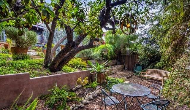 Backyard, lower level