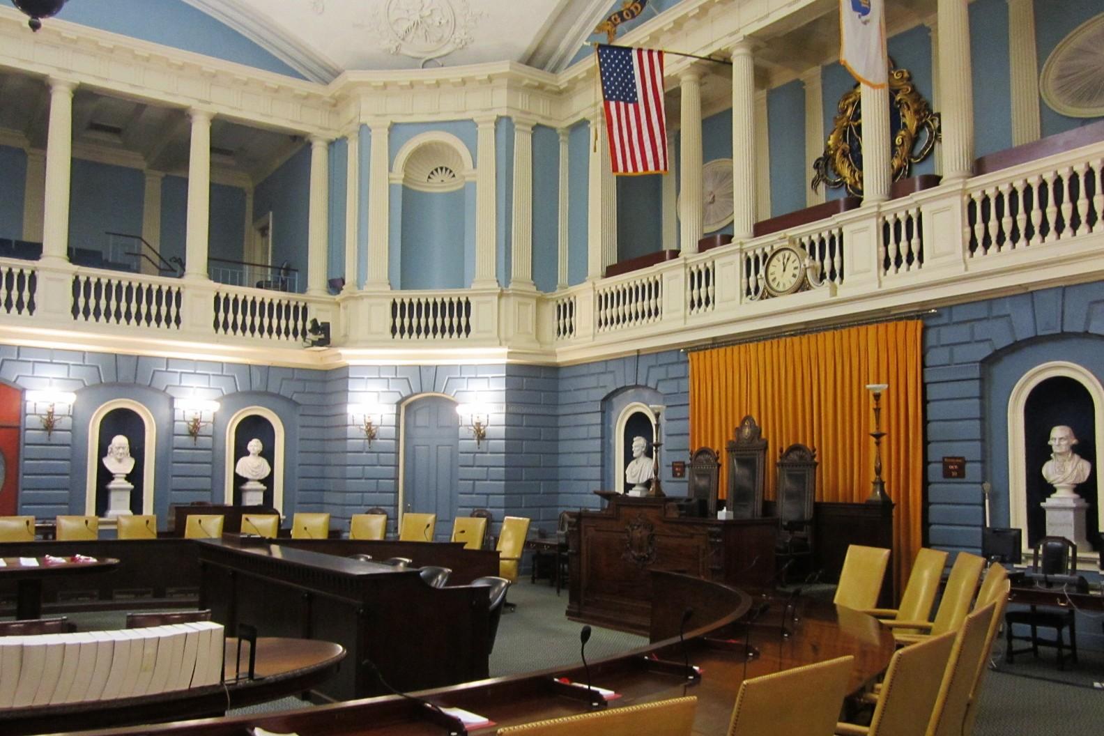 Massachusetts Senate Chamber at the Massachusetts State House -   Boston, MA