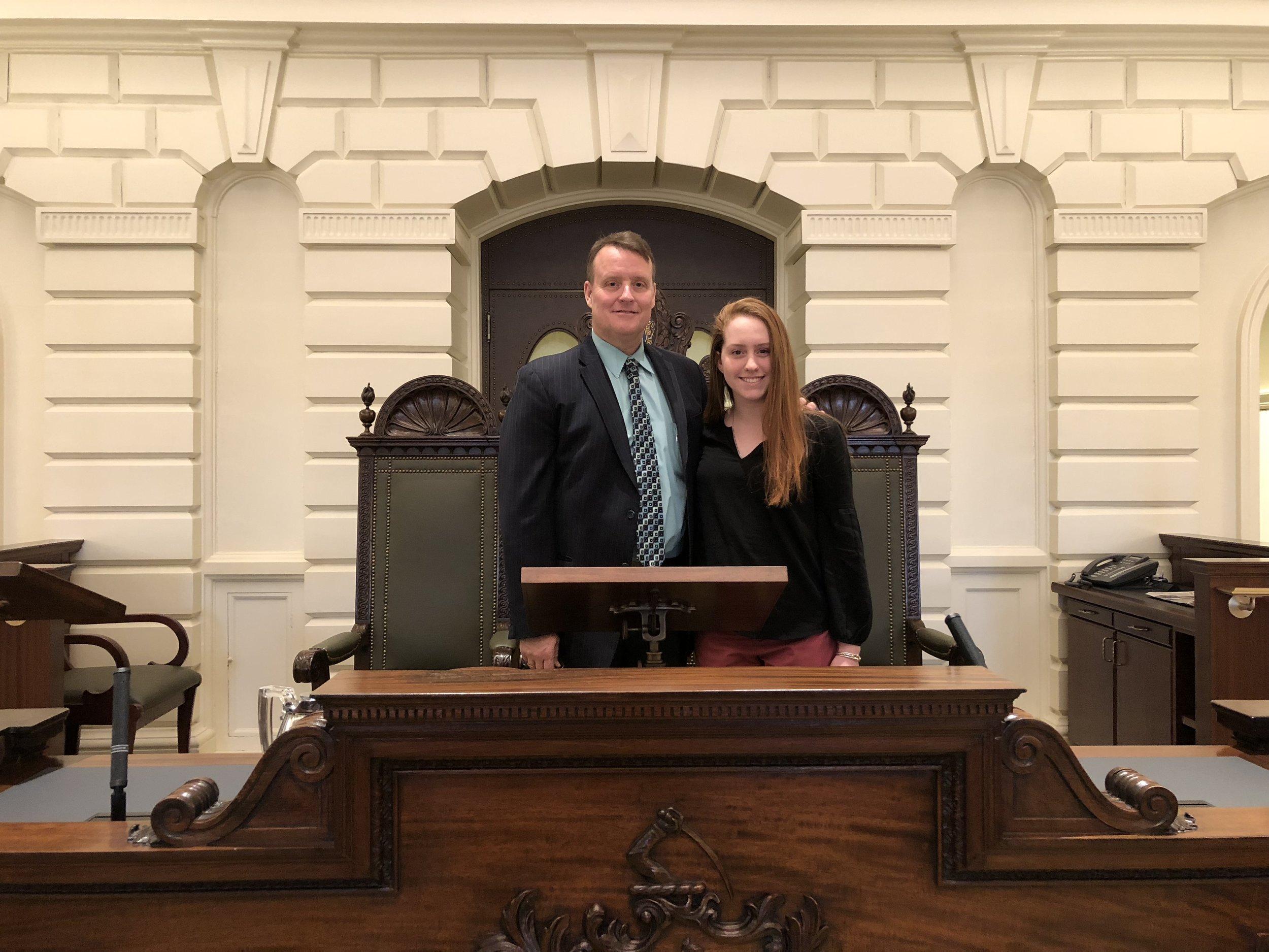 Senator Moore - Jen Shannon Intern 1-9-18.JPG