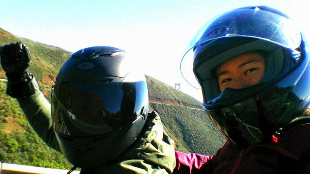Alek and I on Hawk Hill, San Francisco