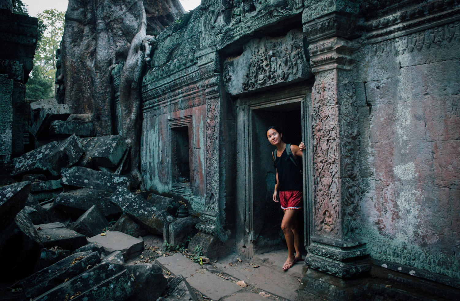 Exploring the 'Tomb Raider' temple in Siem Reap, Cambodia