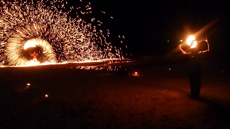Watching fire dancers on the beach on Koh Chang, Thailand. One of my favourite days of 2016.