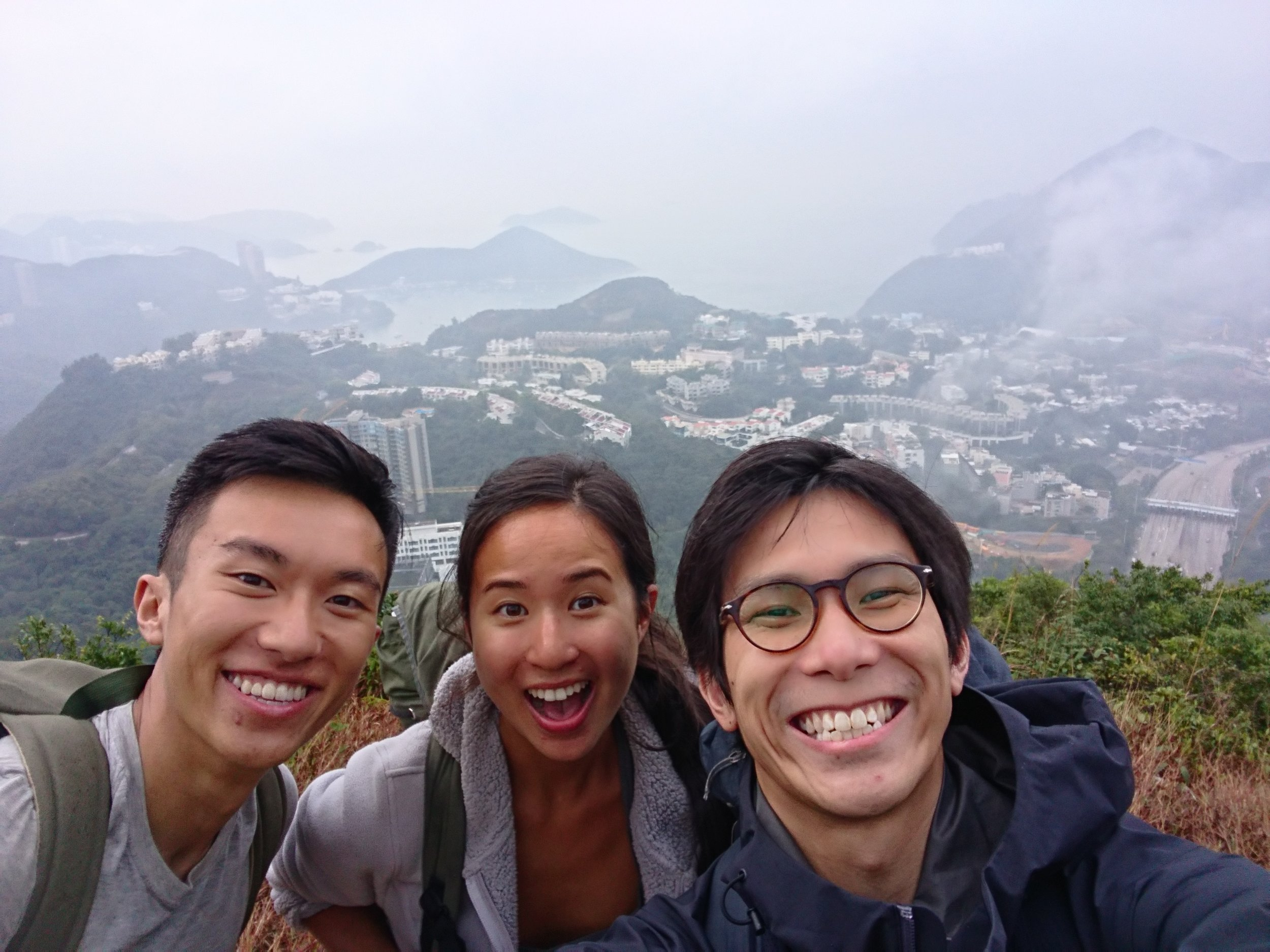 The top of Victoria Peak, Hong Kong with longtime friend Darian (who was with me during my motorcycle crash in Vietnam) and new friend Cheuk-Yin (also a photographer).