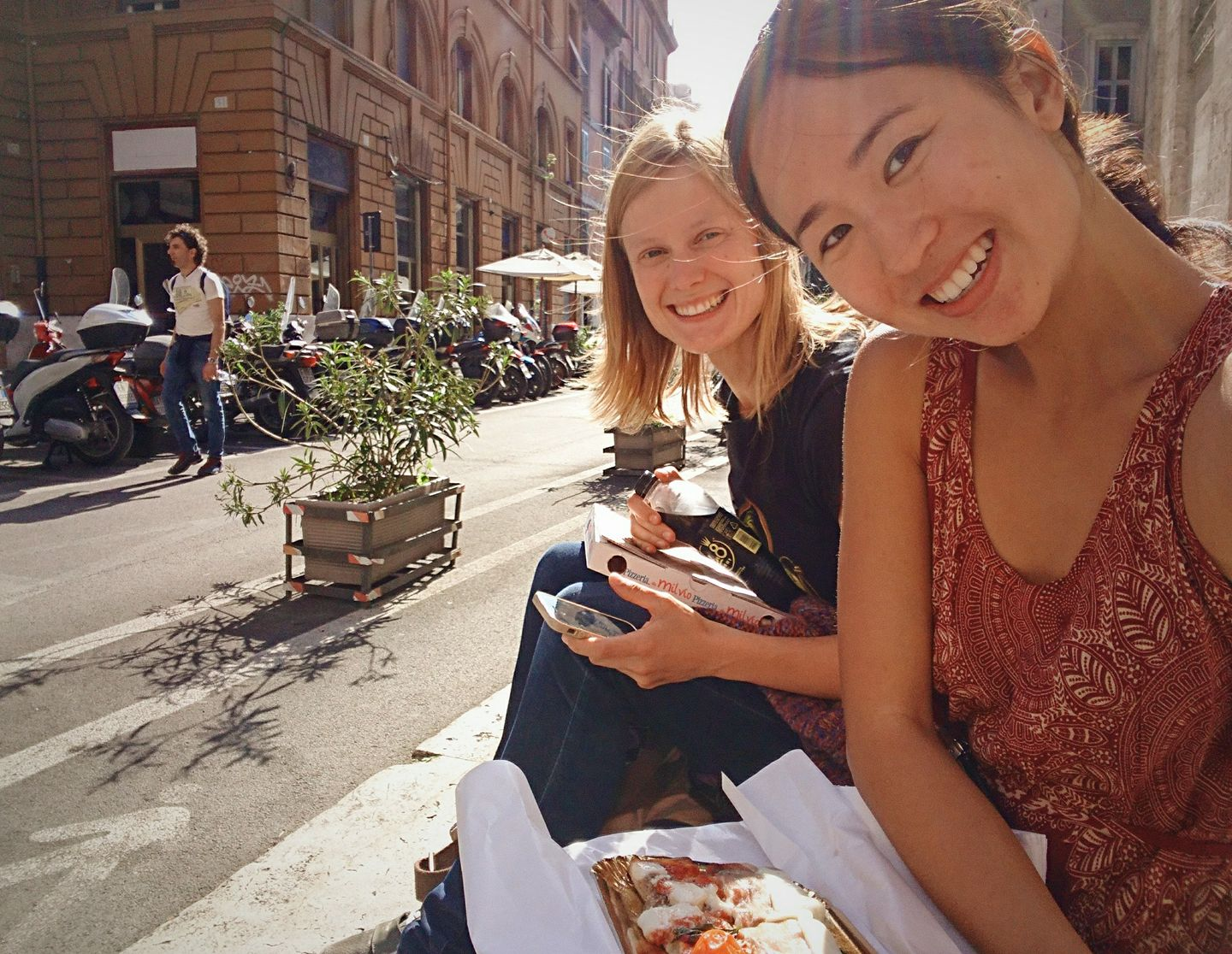 Fresh pizza on the streets of Rome with Julia, whom I met in Saskatoon in 2013. She now lives in Philadelphia with her fiance.