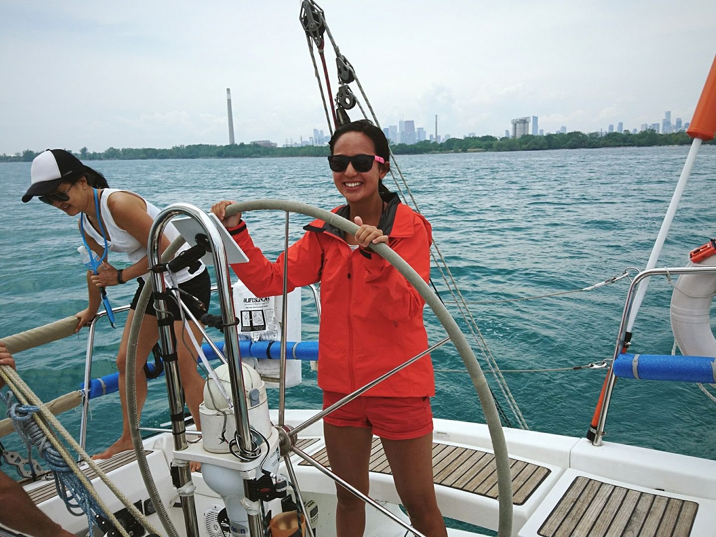 Sailing around Toronto Harbour