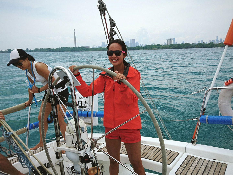 Sailing around Toronto Harbour