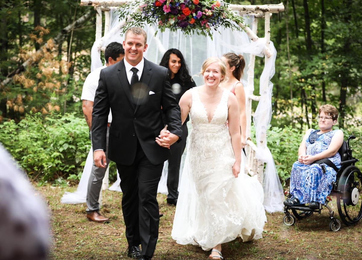 Newlyweds Amy and Michael in Pontypool, Ontario.