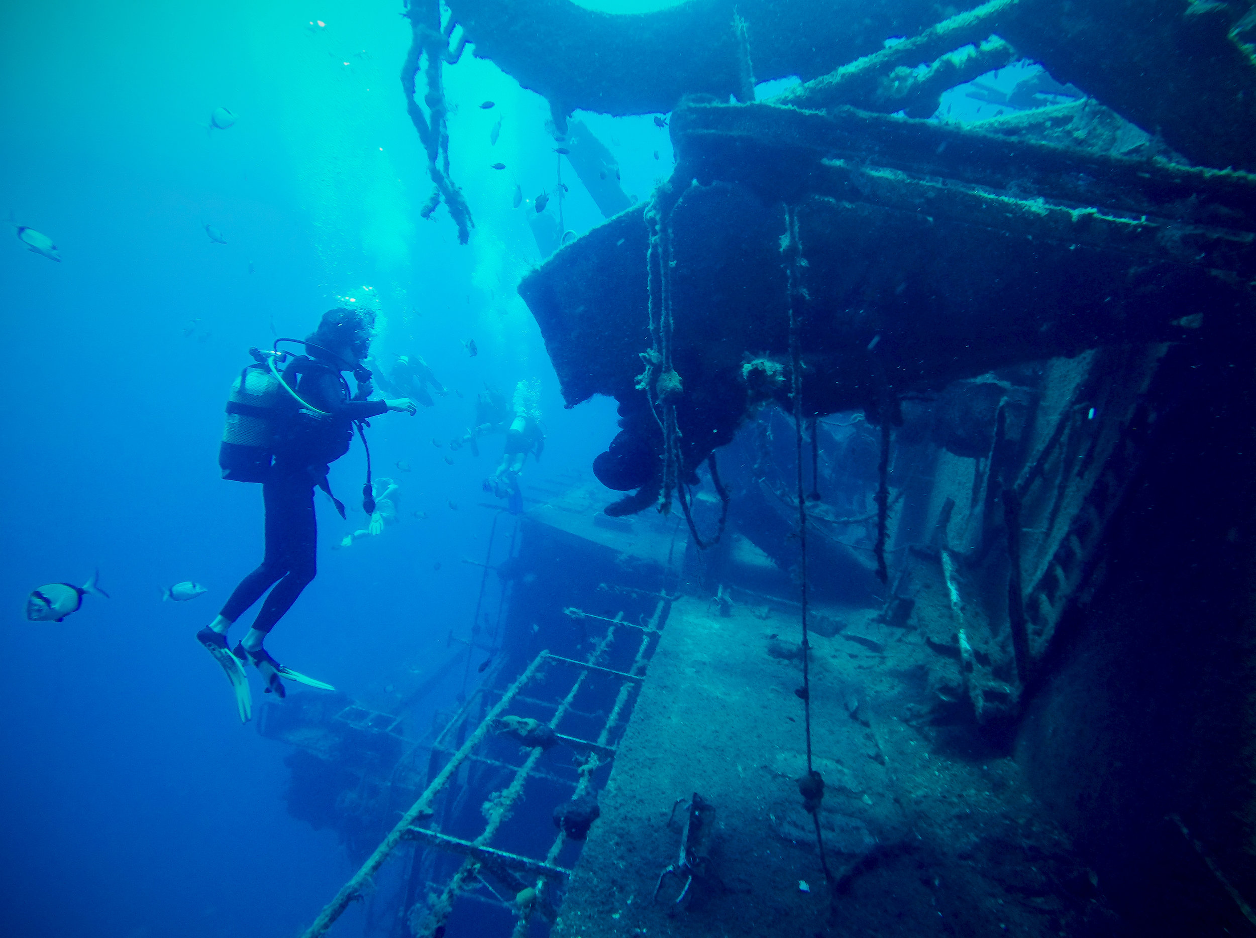 On my first wreck dive in Cyprus, this year.