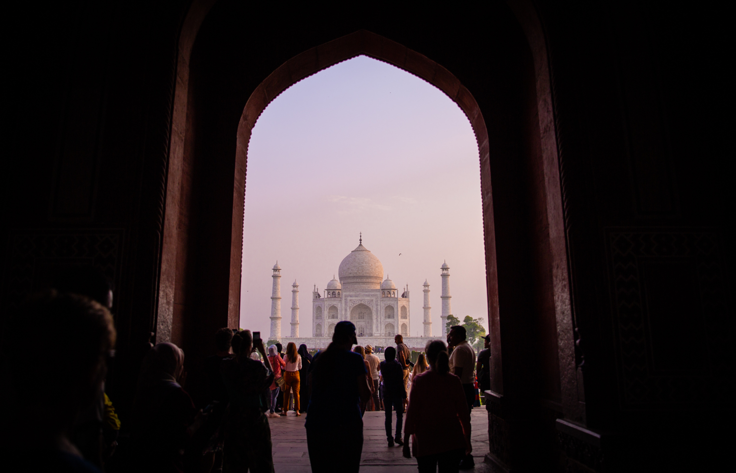 The Taj Mahal in Agra, as captured at 6 am. I went early to avoid tourists, but it turns out everyone had the same idea.