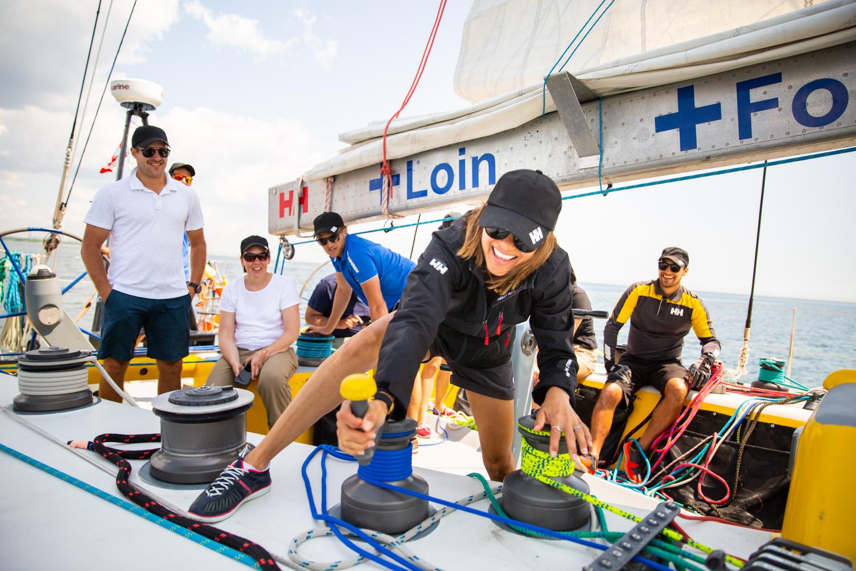 Team Helly Hansen and Atlas Ocean Racing in Lake Ontario in Toronto on July 23, 2019.