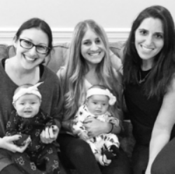 Fast forward! Lauren and Jamie of  LJ Events  catch up with Hannah and her adorable twinsies.