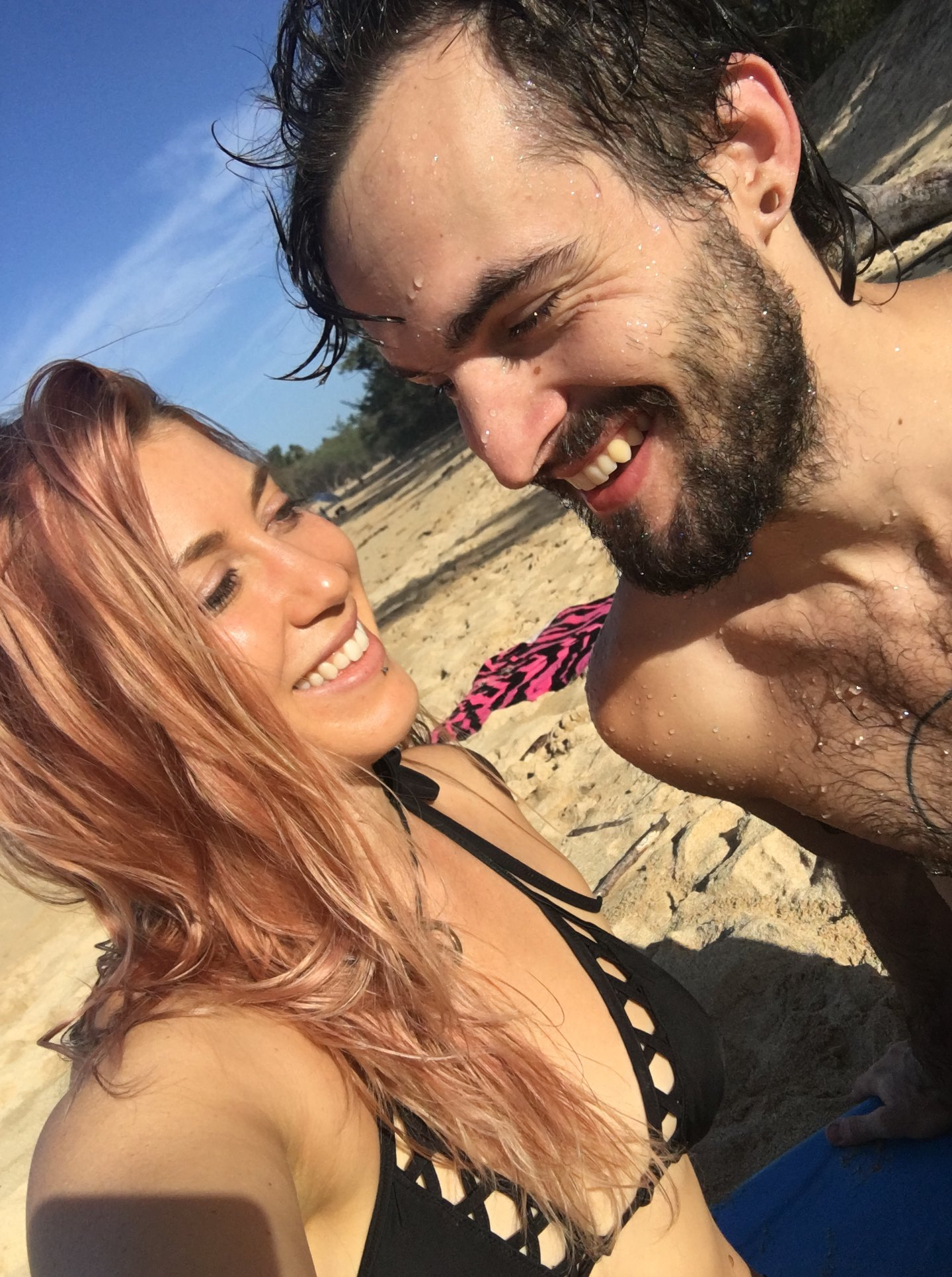 On the beach in Maui on my birthday