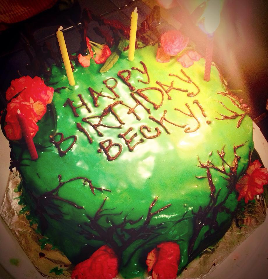 Becky's vegan forest cake