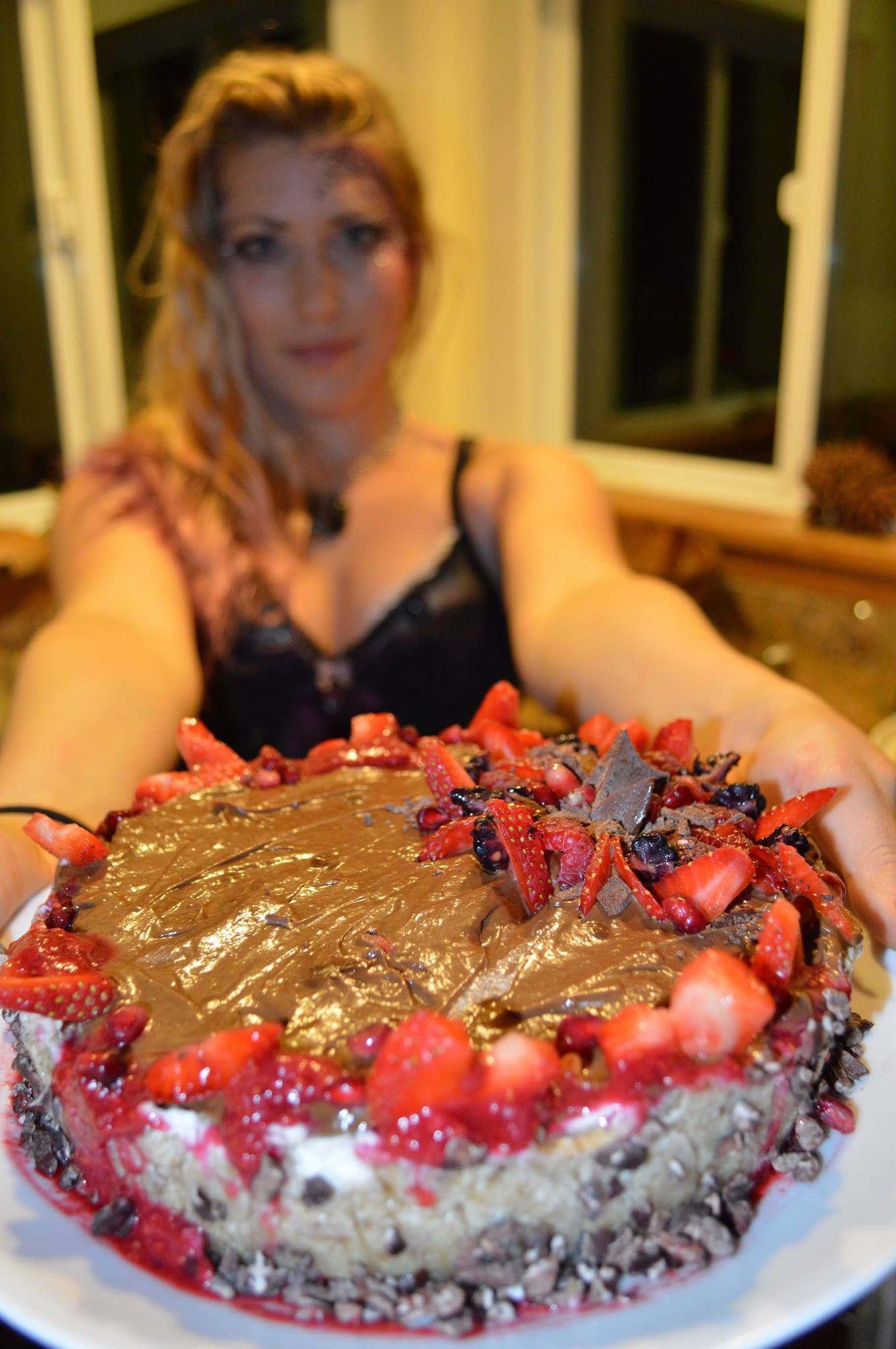 Lindsay's raw vegan coconut vanilla cashew ice cream chocolate mousse bleeding-heart Lupercalia Love cake